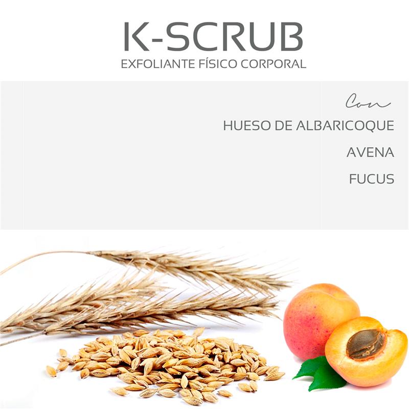 Keiroa k-scrub dermo-peeling corporal con hueso de albaricoque
