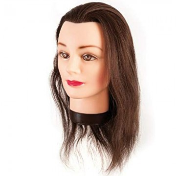 MANIQUI HEAD NATURAL HAIR...