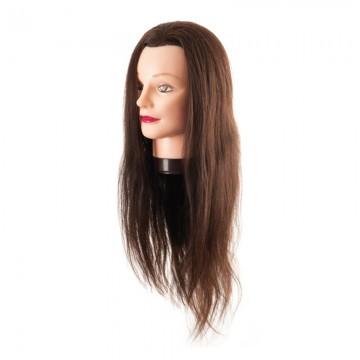 Cabeza Maniqui cabello 100%...