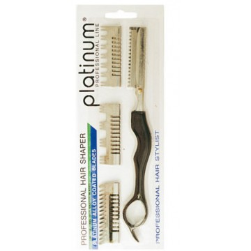 KNIFE HAIR SHAPER WITH 4 COMBS