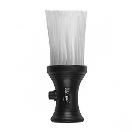 Nylon barber brush with talc deposit