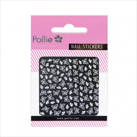 Pollie butterfly-shapped 3D nail art