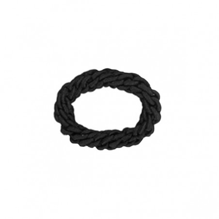 Eurostil's braided black scrunchies