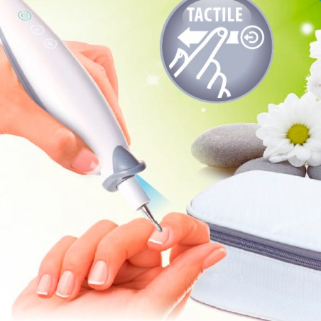 Tactile manicure nail drill